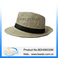 China Fashion 100% paper straw panama hat for men and women on sale