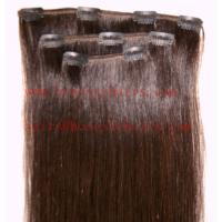 Best 100% REMY hair extension, Clips in hair extension 8-34 in length,color can be selected. wholesale