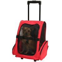 China Pet Carrier Dog Cat Rolling Backpack Travel Tote Bag Airline Approved on sale