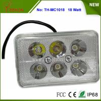 Best 18W Rectangle LED Work Light, LED Headlight for Motorbike, Replacing halogen lamp or HID wholesale