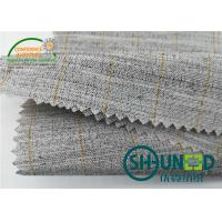 Best Heavyweight Garment Stretched Cotton Canvas Fabric / Horsehair Interlining For Suit wholesale