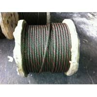 China electro galvanized steel wire rope 6*19S+FC on sale