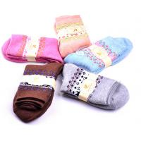 Best Colorful design winter terry socks for women wholesale