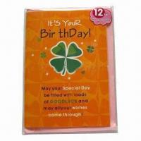 Best Promotional record greeting card, made of 250g paperboard wholesale