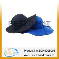 Best Classical Wool Felt Lady Women Wide Brim Floppy Hat Wholesale wholesale