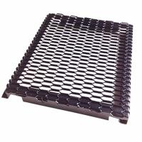 China PVDF Coated Hook Up Frame Expanded Metal Mesh For External Curtan Wall Panel on sale
