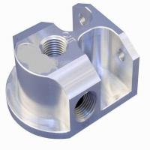 China OEM High Precision CNC Machining Billet Aluminum Remote Oil Filter Mount on sale