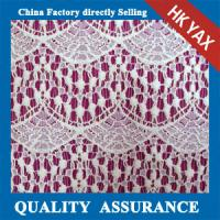 China china supplier 2015 Fancy Design White Polyester Guipure for Wedding Embroidery Lace Fabric on sale
