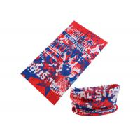 Quality UV Buff Headwear Red Blue Color With Size 25*50 CM Polyester Scarf for sale