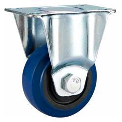 Best Blue elastic rubber Castor wheel,75mm,100mm,125mm caster,caster supplier,castor wholesale wholesale