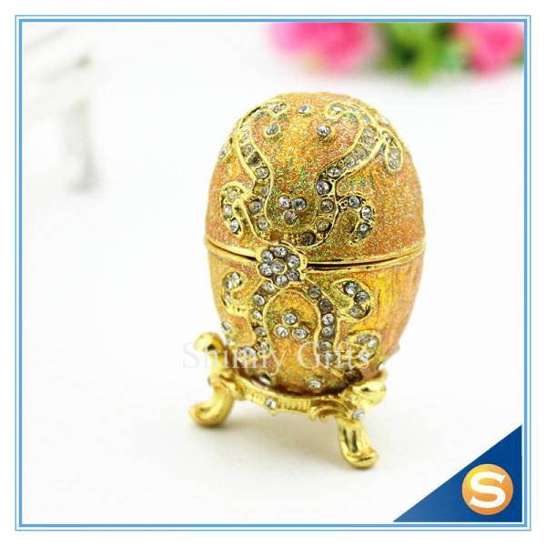 Cheap Faberge Egg Trinket Box Jewelry Box Metal Gift Box for sale
