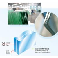 China Insulated Laminated Obscure Glass , SGP Laminated Front Door Windows on sale