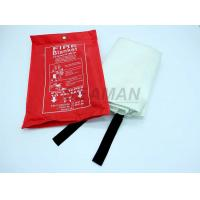 China EN1869 PVC Red Bag Marine Fire Fighting Equipment Fiber Glass Fire Blanket on sale