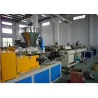 China High Efficiency Plastic Extrusion Machine Pvc Pipe Making Machine With Twin Screw on sale