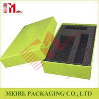 Best Chip board Paper Creen Print Customized design Gift Box With Black Foam for gift set wholesale