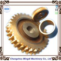 Cheap Copper Ra 0.4 - 0.8 Stepper Motor Single Hellical Worm Gear Parts for Worm Gearbox for sale