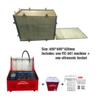 China Flow Fuel Injector Tester And Cleaner / Fuel Injector Testing Machine on sale