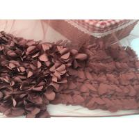 Best 100% Polyester Soft Lace Fabric 3d Flower / Tulle Lace Fabric For Wedding Dress wholesale