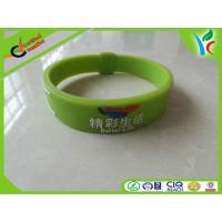 Best Healthy Green Silicone Balance Bracelet , Light Rubber Energy Wristband wholesale