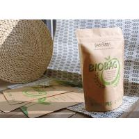 China Customized Bio Compostable Bags , Biodegradable Food Bags PLA Zipper For Tea / Snacks on sale