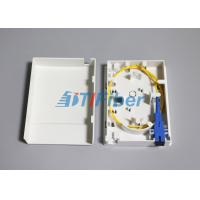 China Compact Structure Faceplate FTTH Mini Fiber Optic Terminal Box / Ofc Termination Box on sale