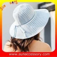 China AK17561 fashion Wide brim sunny beach paper straw floppy hats for womens in stock , promotion cheap hats . on sale
