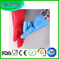 China Lengthened Non-Slip Grip Pots Holding Gloves Silicone Oven Heat Resistant Gloves on sale