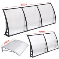 Best Durable Solid Polycarbonate Awning , PC Door Canopy Patio Cover Long Life Span wholesale