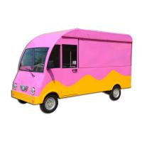 China 3 Wheels / 4 Wheels Food Vending Cart / Mobile Food Kiosk Double Axle With Brake System on sale