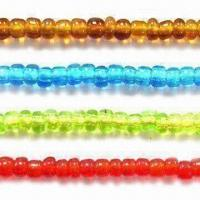 Best Glass Seed Jewelry Beads, Available in Various Transparent Colors, with 11/0, 6/0 and 3-inch Sizes wholesale