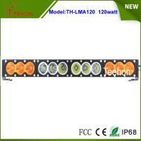 "Best Single row 21.9"" 120w white/amber led light bar 10w per CREE LED for offroad accessory wholesale"