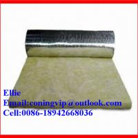China 24kg/m3 glass wool insulation roll with Aluminum foil on one side on sale