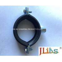 Zinc Galvanized Rubber Lined Cast Iron Pipe Clamps For Pvc Pipe Standard