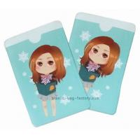 China Pretty Pattern Plastic Card Holder 12 Colors Offset Printing Puffy Holder on sale