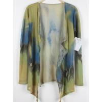 China Printed Poncho Fine Knit Sweaters Special Flower Pattern 100% linen Without Button on sale