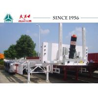 Best 20/40FT Tipping Skeletal Trailers , Heavy Duty 3 Axle Trailer With Long Service Life wholesale