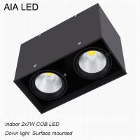 Best Inside IP40 square surface mounted 2x7W COB LED downlight for shopping mall wholesale