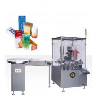 220V 50HZ 0.75kw Vertical Cartoning Equipment With Online Bottle Unscramable And Feeing