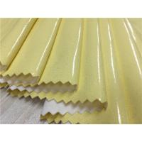 Best Yellow Color 0.4mm - 0.5mm Pu Synthetic Leather For Ladies Raincoat / Light Jacket wholesale