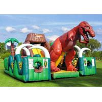Best Outdoor Inflatable Amusement Park Frame Retardent With Large Blow Up Dinosour wholesale