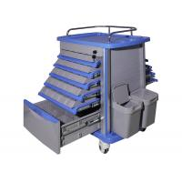 Best Easy Cleaning Plastic Medical Trolley , Emergency Medicine Trolley Moving Smoothly wholesale