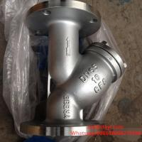 Buy cheap PN16 RF Stainless Steel Y Type Strainers Flanged with Drain Plug product