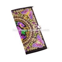 ethnic colorful butterfly silk metal close eadge coin purse clutch girls purse