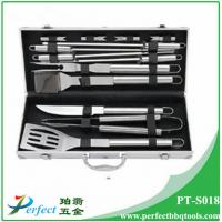 China Stainless steel bbq grill tool set with aluminum box 13 pcs s/s BBQ set pack in Alu case on sale