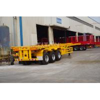 China TITAN 3 axles skeleton semi trailer with 40 ft container chassis for sale on sale