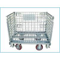 Best Foldable storage wire mesh box with castors wholesale