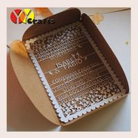 Best Floral lace wedding invitation card birthday card with laser cut wordings wholesale