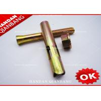 Best Yellow Zinc Hex Head Sleeve Anchor Bolts With Flange Nut Hardware M8-M24 wholesale