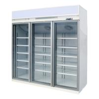 China R290 Refrigerant Commercial Upright Freezer 3 Glass Door For Frozen Foods Ice Cream on sale