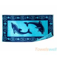 China Jacquard Beach Towels Lint Free Ultra Soft  Drying fast Super Absorbent on sale